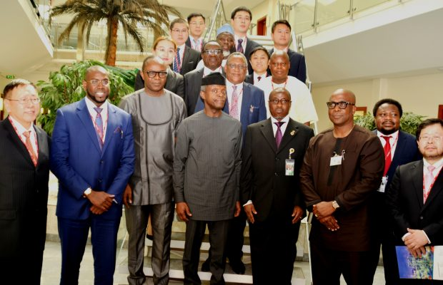 Sheikh Mohamed Bayorh with Nigerian delegation in China