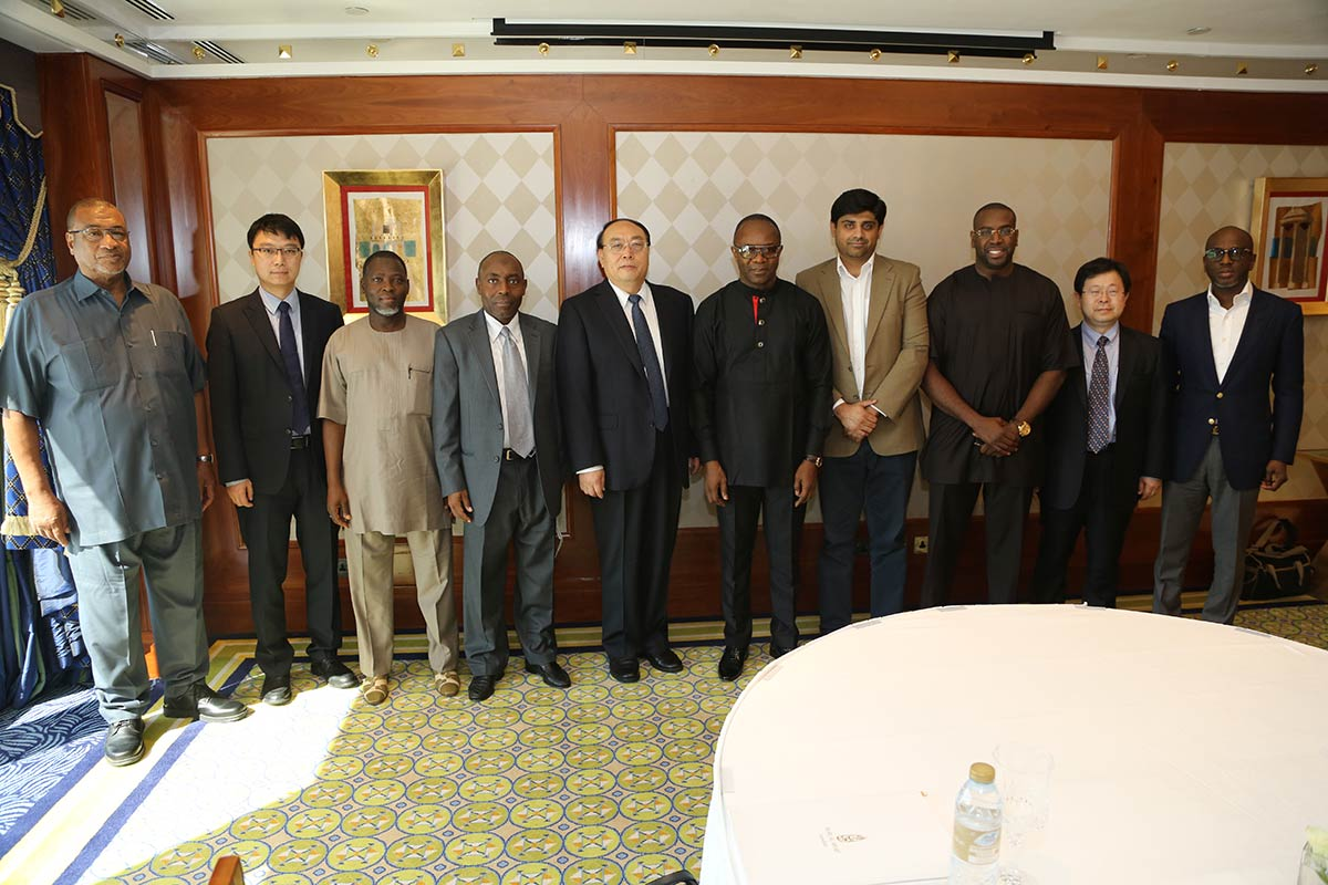 Sheikh Mohamed Bayorh CEO of Alpha group with delegation