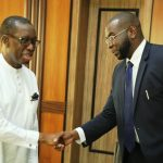 Sheikh Mohamed Bayorh Alpha Group meets Governor Okowa, Sheikh Mohamed Bayorh Economic team