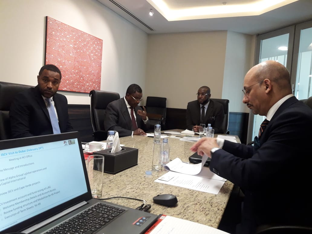 Sheikh Mohamed Bayorh hosts Angola delegation, Sheikh Mohamed Bayorh Alpha Group Headquarters
